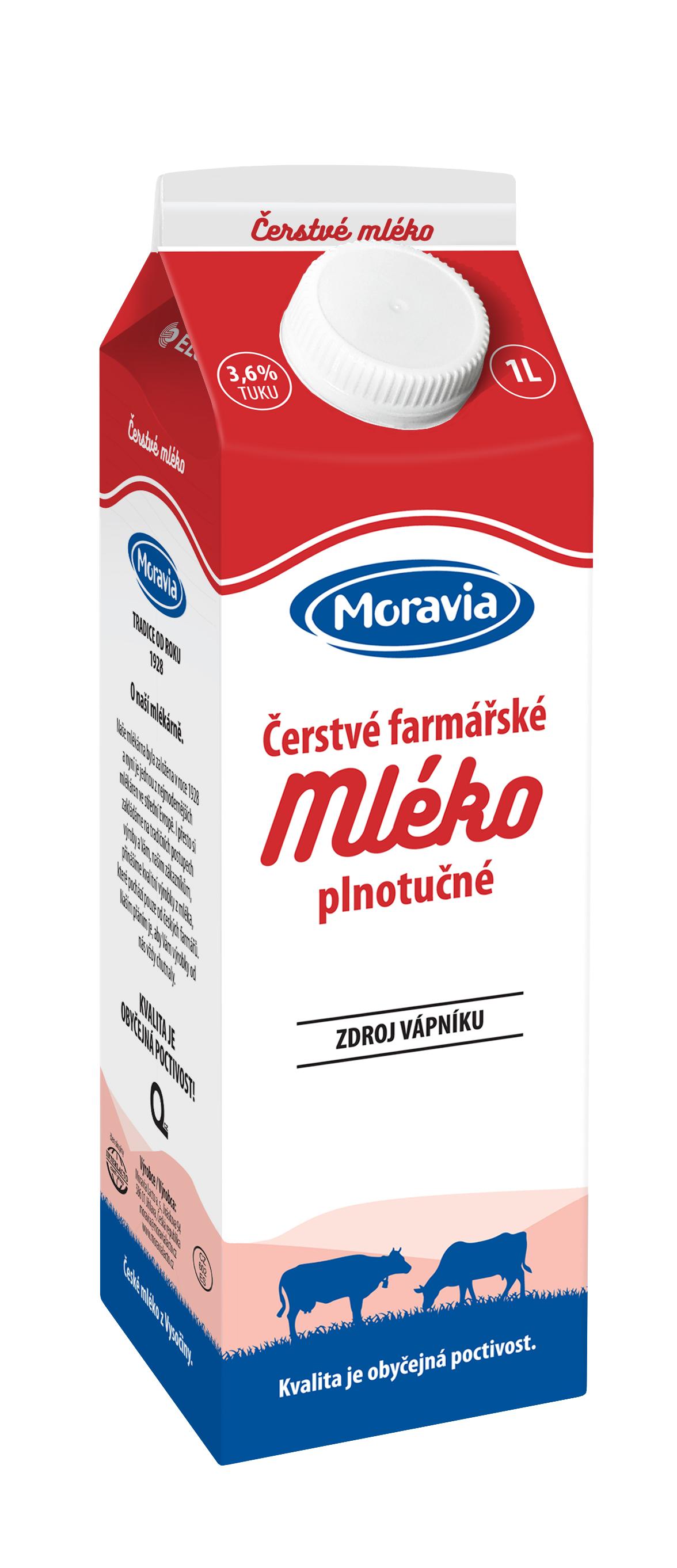Mléko čerstvé 3,5 % Milkin