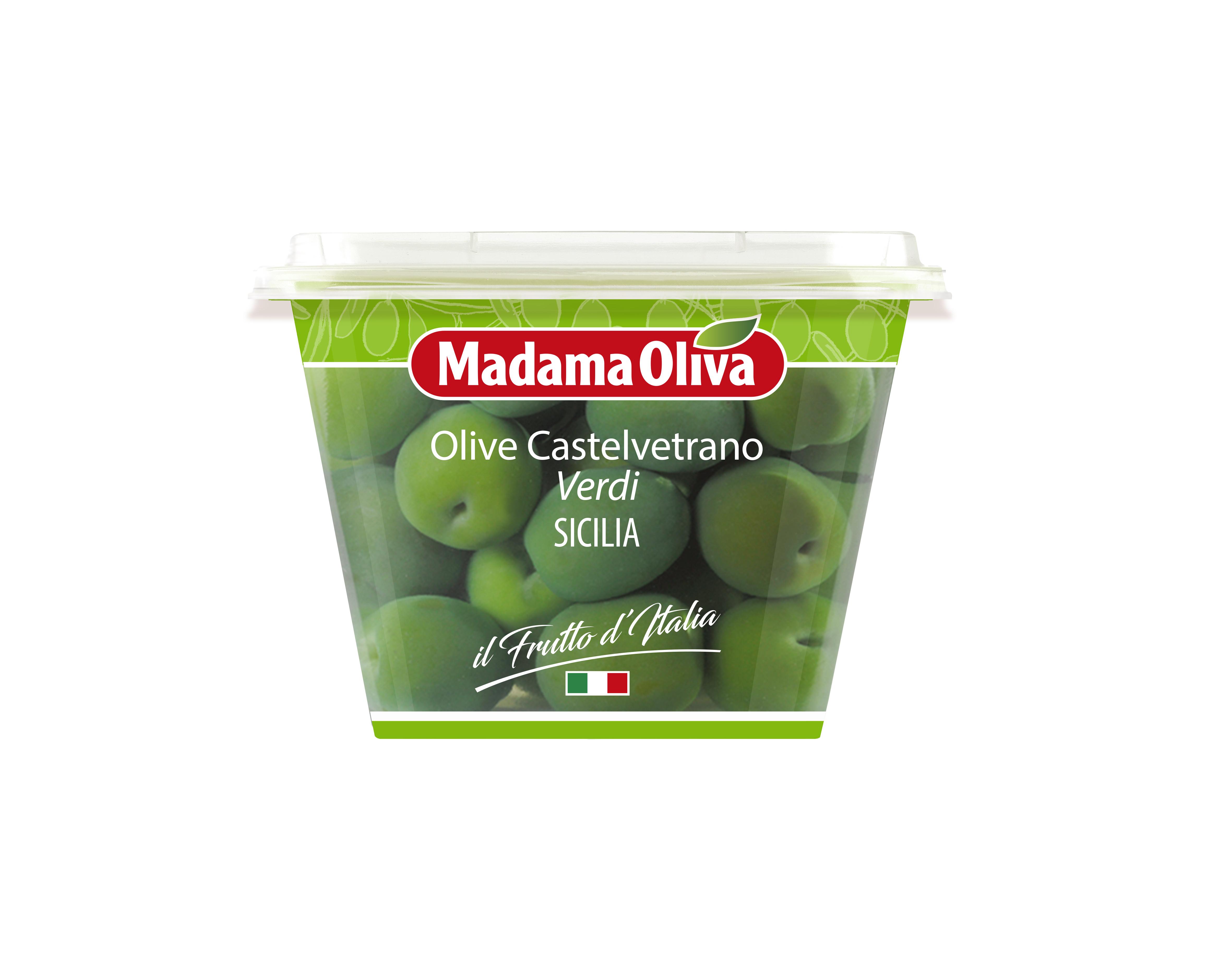 Olivy zelené Castelvetrano 250g Madama Oliva