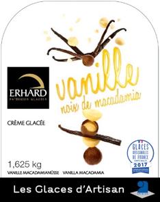 Vanilka - Macadam zmrzlina