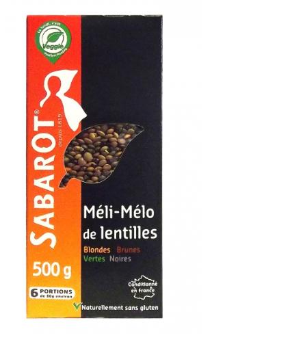 Čočka mix (zelená, černá, žlutá, hnědá) Sabarot