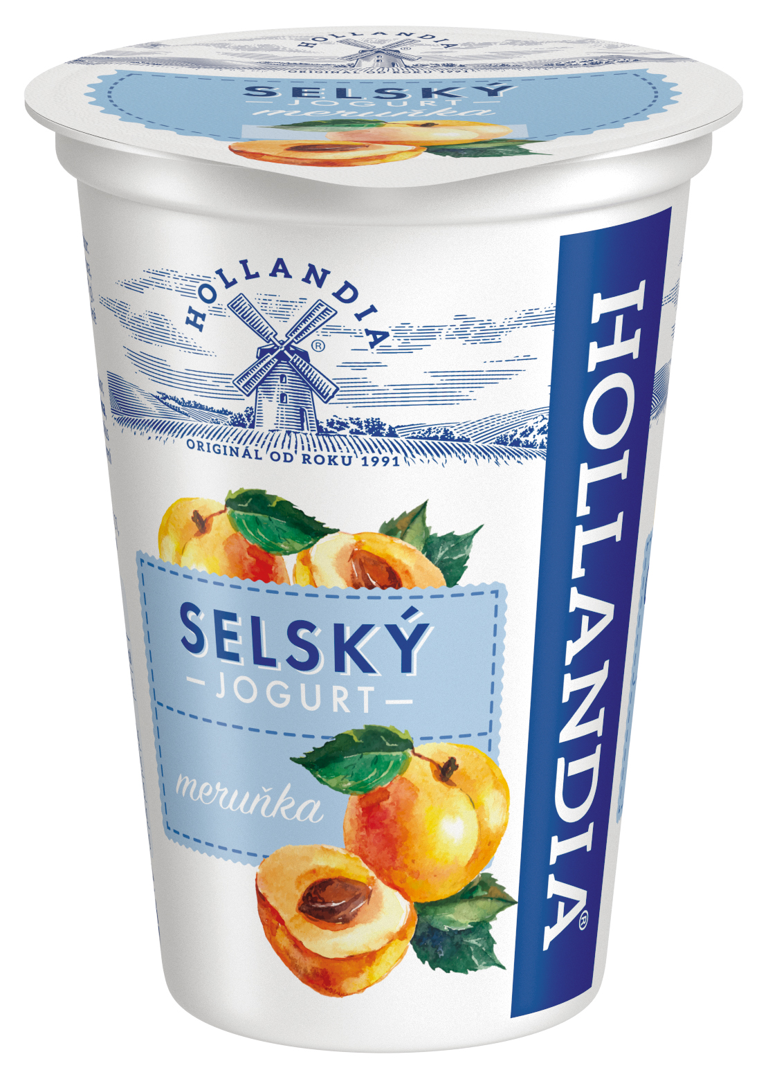 Jogurt selský MERUŇKA Hollandia