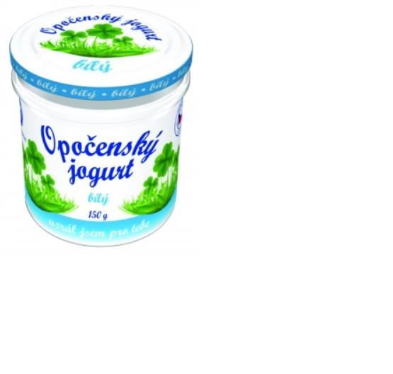 Opočenský jogurt bílý sklo