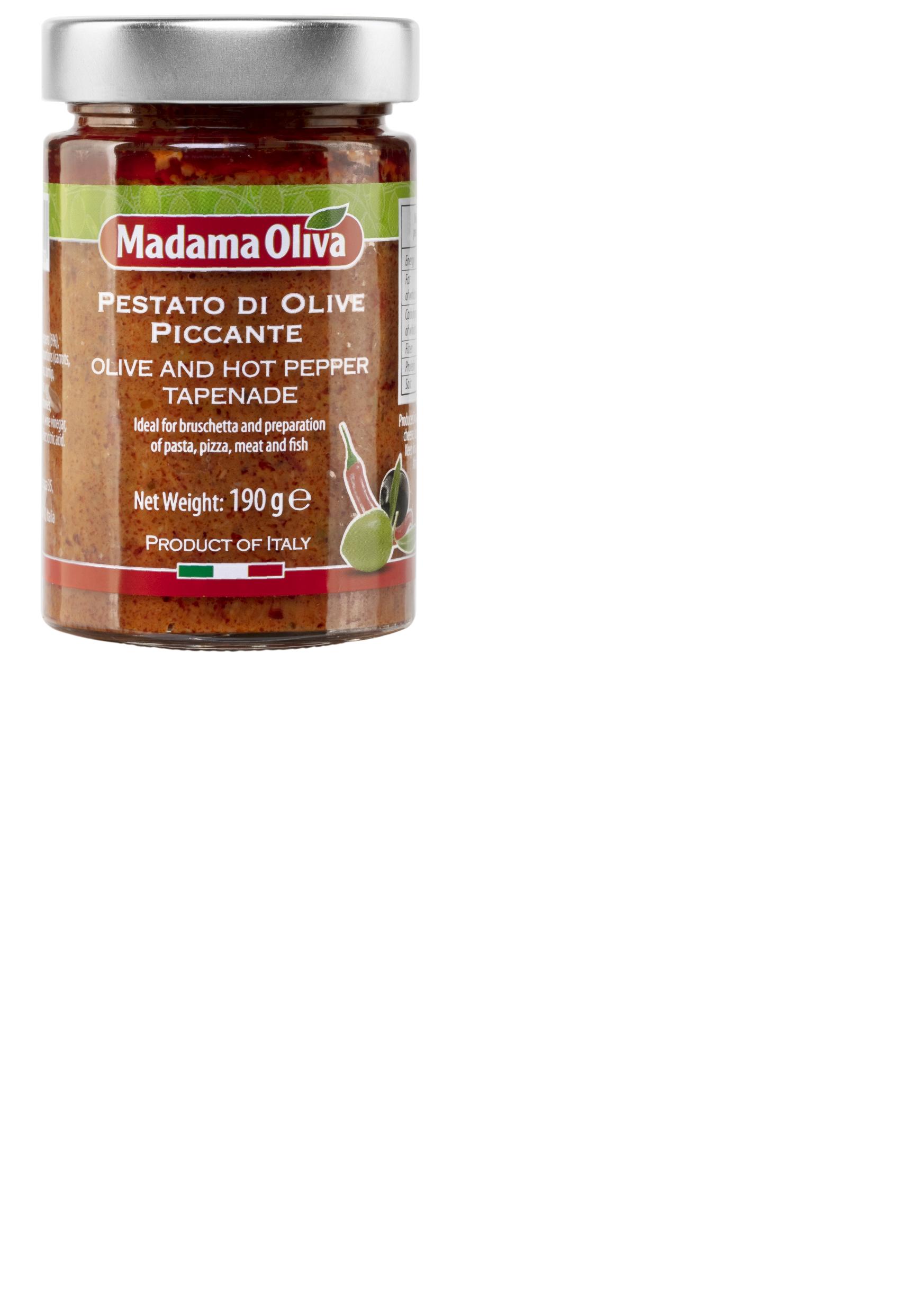 Tapenáda olivy hot pepper 190g SKLO Madama Oliva