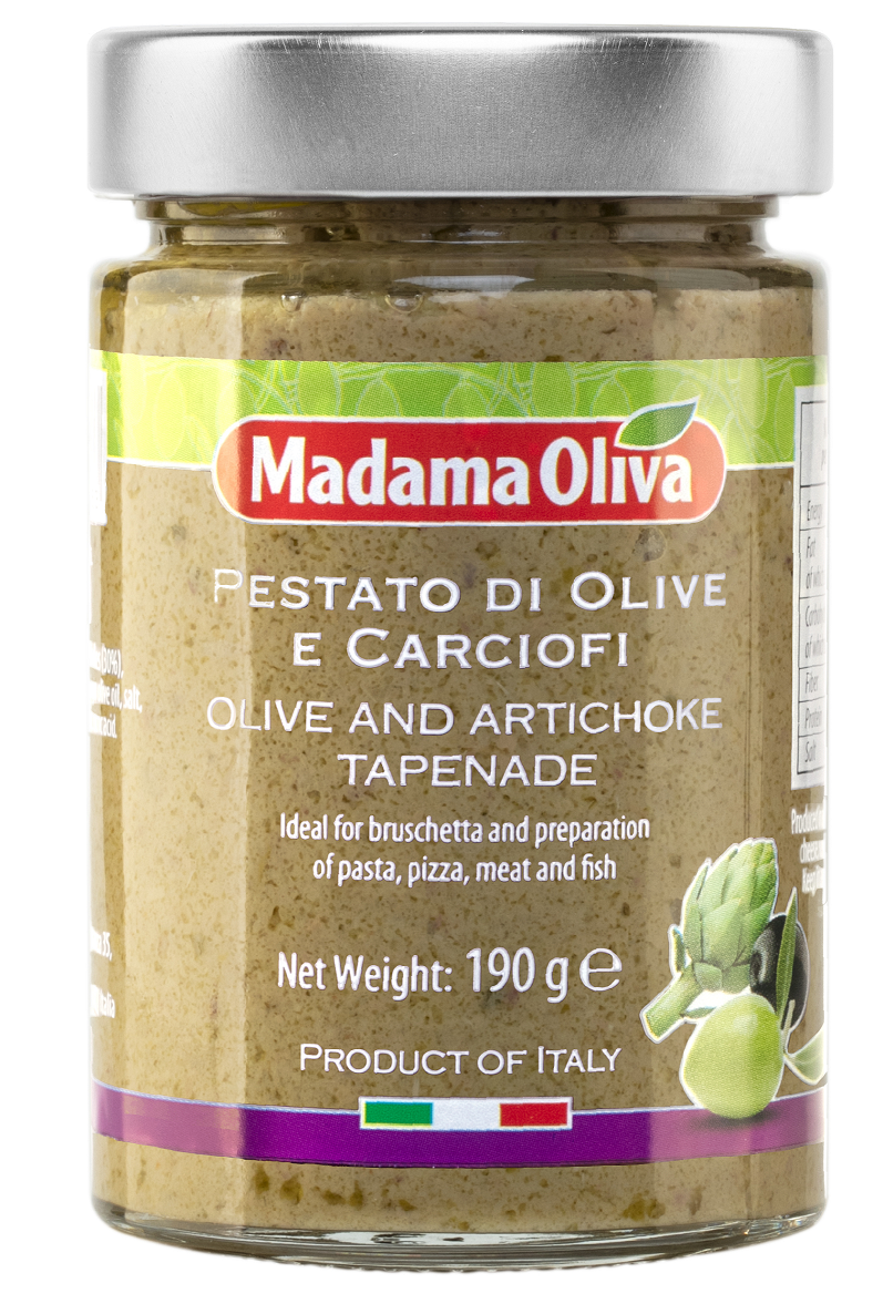 Tapenáda oliva artyčok 190g SKLO Madama Oliva