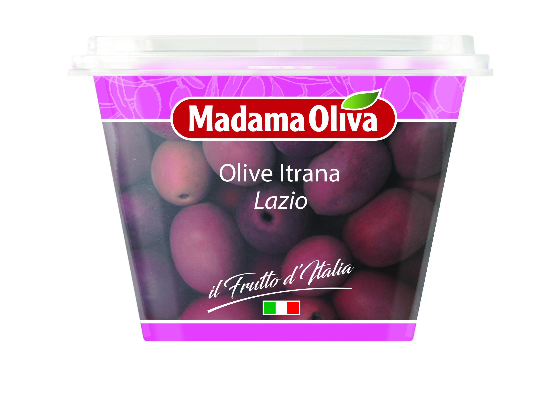 Olivy černé GAETA Itrana s peckou 250g Madama Oliva